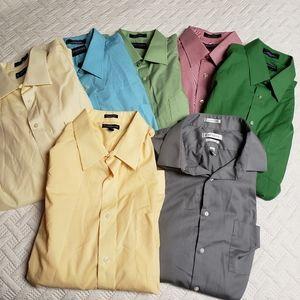 Lot of 7 Men's Button Ups